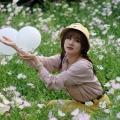 白花白气球