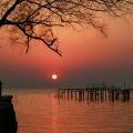 明月湾夕阳