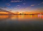 傍晚的金鸡湖...