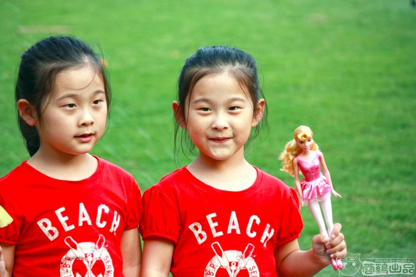 【蓉鸡原创】可爱的小朋友,双胞胎姐妹花