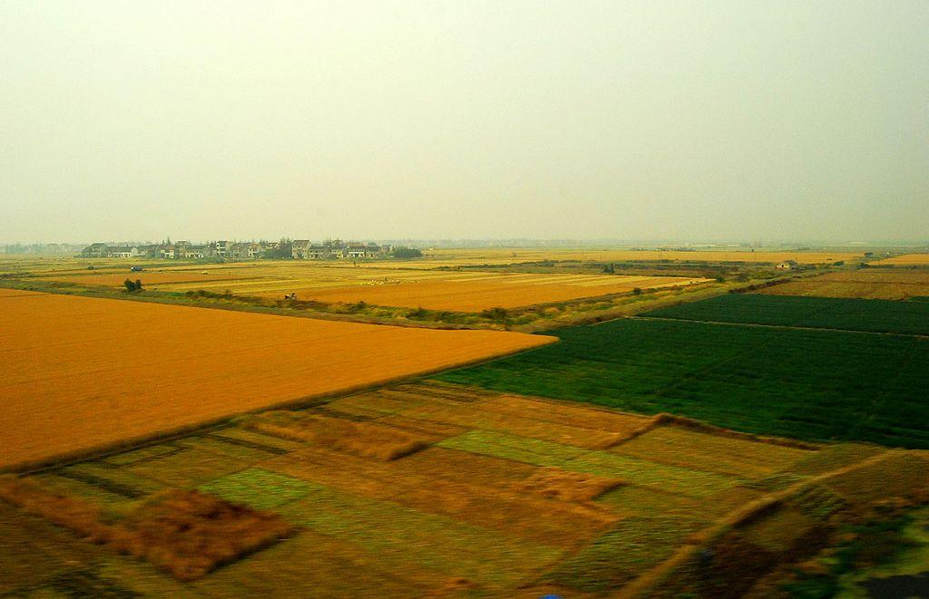 一组沪杭高铁沿途风景照