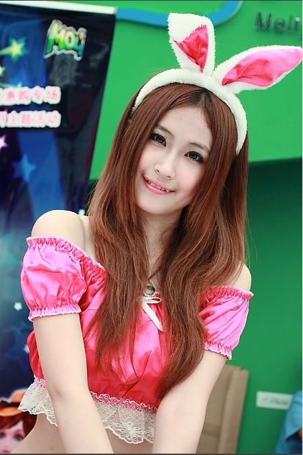 甜甜的兔女郎